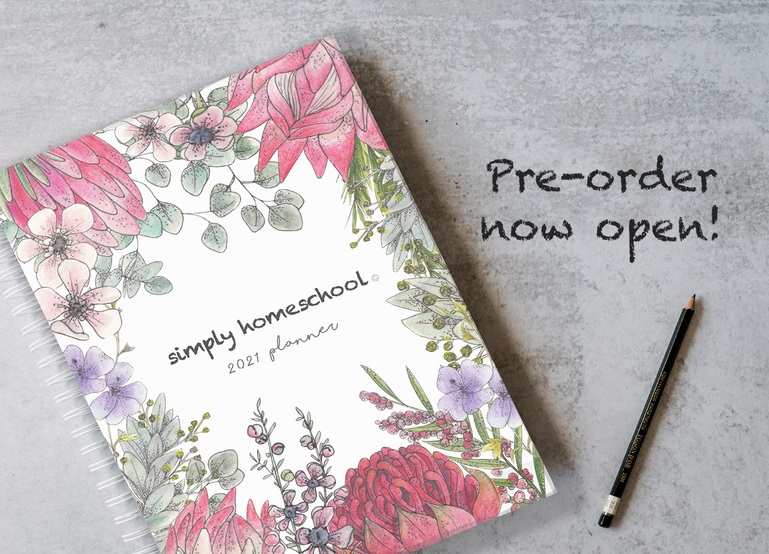 It's here! The Simply Homeschool Yearly Planner!